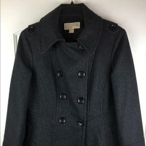 Michael Kors Gray Wool Blend Peacoat sz Medium